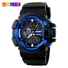 SKMEI Casio Men Sport LED Watch Water Resistant 50m - AD1117 - Blue