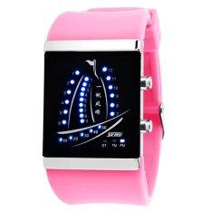 Skmei Electronic Jelly 30m Waterproof Digital Lovers Watch (Pink) 1001