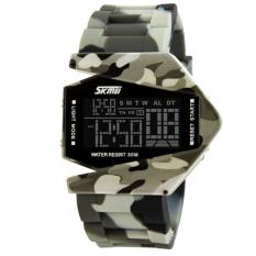 SKMEI Men Russian Talking Clock Sport Watch Digital Clock Outdoor EL Light Sports Wristwatches Alarm Relogio (Camouflage)