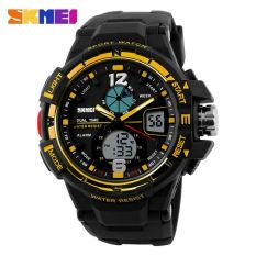 SKMEI Men Sport Analog LED Watch Water Resistant 50m - AD1148 - Black Gold