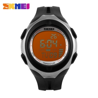 SKMEI Pioneer Sport Watch Water Resistant 50m - DG1080T - Black / Orange