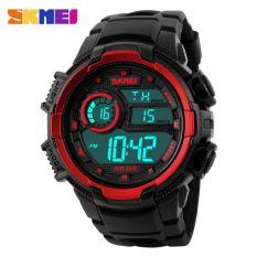 SKMEI S-Shock Sport Watch Water Resistant 50m - DG1113 - Black / Red