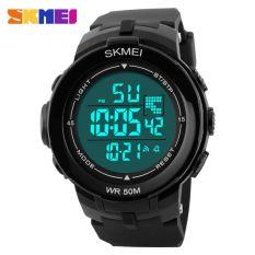 SKMEI S-Shock Sport Watch Water Resistant 50m - DG1127 - Black White
