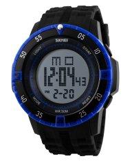 SKMEI Sports Men's OLA-SK1089C Multifunctional Waterproof Digital Display Watch Blue - Intl