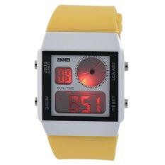 SKMEI Unisex Loves Sport Waterproof Rubber Strap Wrist Watch - Yellow 0841 - Intl