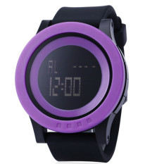 SKMEI Watch Men Military Sports Watches Fashion Silicone Waterproof LED Digital Watch For Men Clock Digital-watch (Purple And Black)