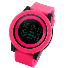 SKMEI Watch Men Military Sports Watches Fashion Silicone Waterproof LED Digital Watch For Men Clock Digital-watch (Red)
