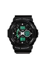 SKMEI Waterproof Mountaineer Men's Black Rubber Strap Watch