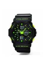 SKMEI Waterproof Mountaineer Men's Black Rubber Strap Watch (Intl)