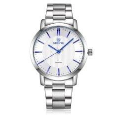 SKONE Men's Sports Watch Authentic Fashion Men's Watch Band Space-Silver White Blue (Intl)