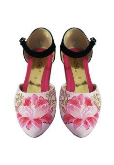 Slight Sepatu Sandal Lukis Peony - Pink   Lazada Indonesia