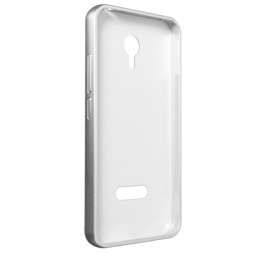 Slim Metal Frame Bumper PC Hard Back Case for MEIZU MEILAN M2 Note (Silver) (Intl)