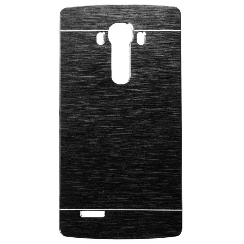 Slim Thin Hybrid Brush Metal Aluminum Shockproof Hard Case Cover for LG G2 G3 G4 (Black) (Intl)