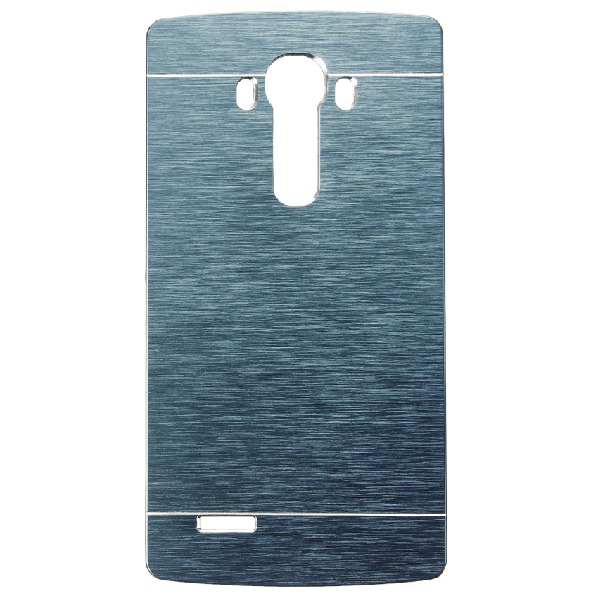 Slim Thin Hybrid Brush Metal Aluminum Shockproof Hard Case Cover for LG G2 G3 G4 (Blue) (Intl)