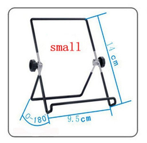 Small Iron Material Adjustable Desktop Multi-angle Non-slip Stand Holder for Ipad 2 3 4 Air Mini Small Size (Black) (Intl)