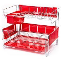 Smart Green Style Kitchen Rack Dish Dryer Dish Rack Dish Drainer Kitchen Storage (Intl)
