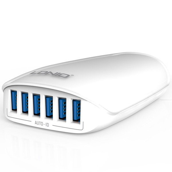 Smart Travel Charger LDNIO A6573 5.4A 6 Ports - Putih