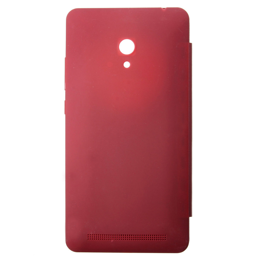Smart Window Flip PU Leather Hard Cover Case For ASUS Zenfone 2/5/6 (Red) (Intl)