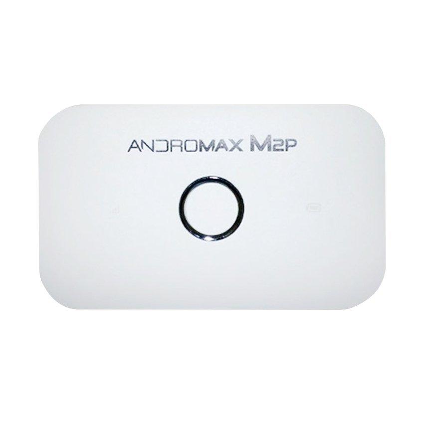 Smartfren Mifi Andromax M2P Modem 4G 3G High Speed - Putih + Gratis Antena Yagi For Modem Smartfren - Silver