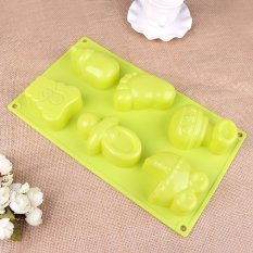 Snowman Bell Christmas Tree Mold Shaped Silicone Mold Cake Decoration Fondant Cake 3D Food Grade Silicone Mould (Intl)