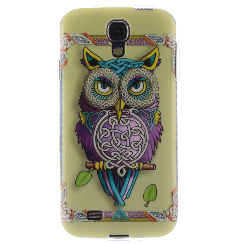 Soft TPU Back Cover With OWL Painting for Samsung Galaxy S4 (Multicolor) (Intl)