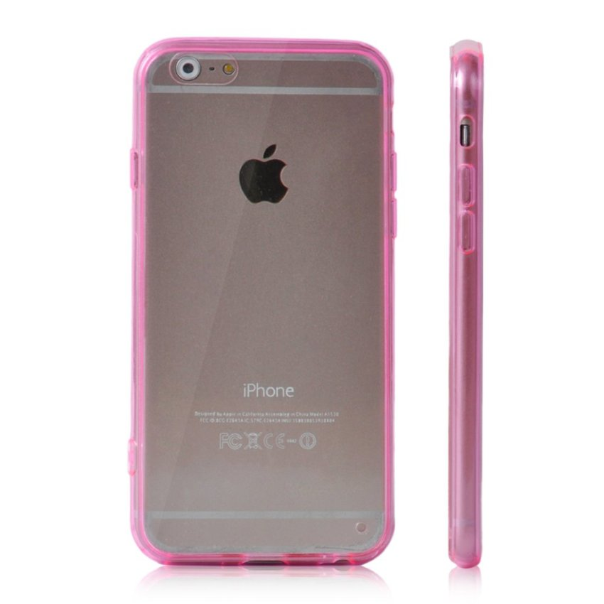 Soft TPU Gel Transparent Crystal Clear Invisible Case Cover for iPhone 5 5S (Pink) (Intl)