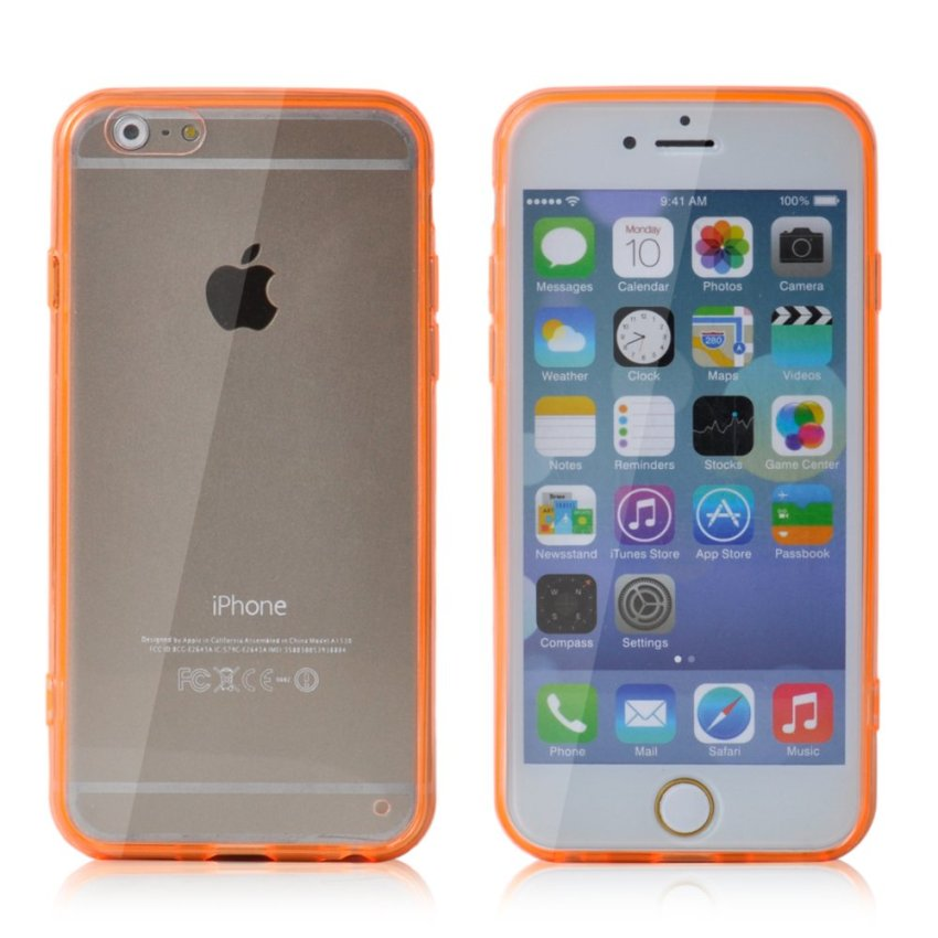 Soft TPU Gel Transparent Crystal Clear Invisible Case Cover for iPhone 6 (Orange) (Intl)