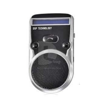 Solar Powered Bluetooth Handsfree Car Kit LCD Speaker For Mobile Cellphone