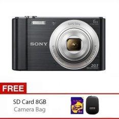 Sony Camera Cybershot DSC-W810 - 20.1MP - 6x Optical Zoom - Hitam + Gratis SD Card 8Gb dan Case