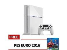 Sony PS4 Garansi Resmi Sony 500GB - Putih + Gratis Pes EURO 2016