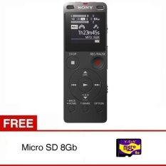 Sony Voice Recorder ICD-UX560F - Hitam + Gratis Micro SD 8GB