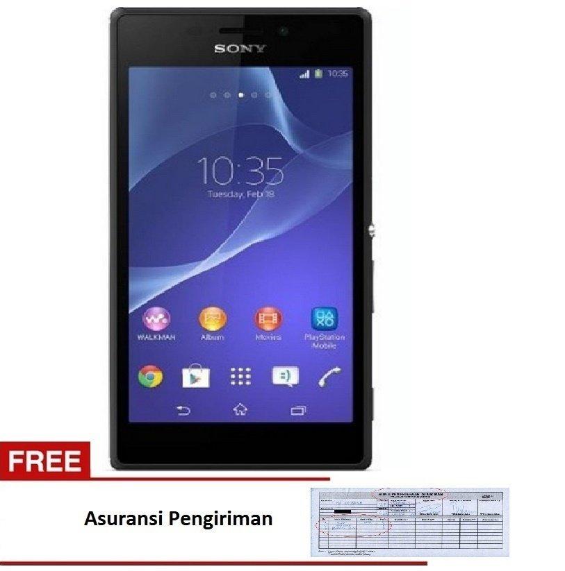Sony Xperia M2 Dual Kitkat Free Asuransi pengiriman - 8 GB - Hitam
