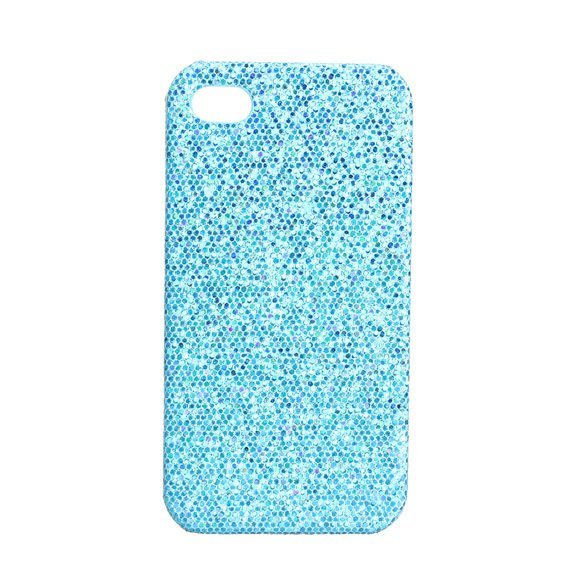 Sparkle Glitter Case for iPhone 4 4G 4S (Blue)