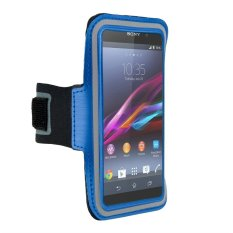 Sports Armband Band Exercises Pouch Case For Sony Xperia Z3 Z2 Z4 (Blue) - Intl