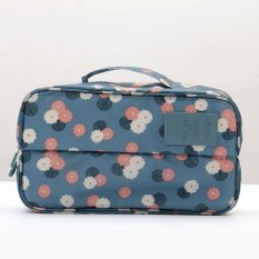StarHome Tempat Sepatu Dan Underwear - Korean Partition Shoes And UnderWear Organizer Bag Motif V2 Light Blue