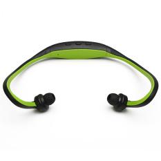 Stereo Sport Headset Headphone MP3 Music Player Micro SD TF Slot Green (Intl)