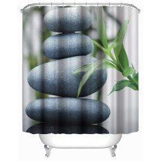 Stones Leaves Shower Curtain