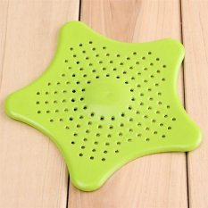 Strainer Mesh Filter Starfish Bath Hair Catcher Sink New Kitchen Tool (Green) (Intl)