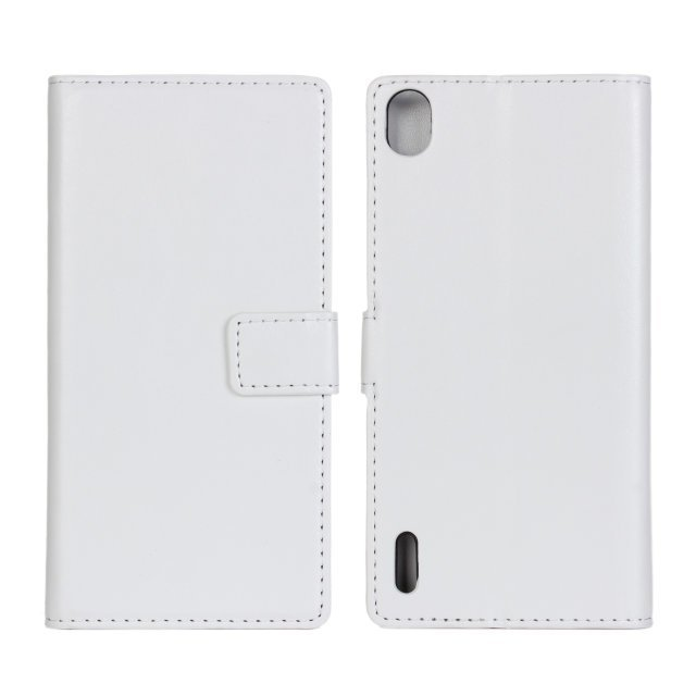 Stripe Purse Holster Cover for Huawei P7 (White)