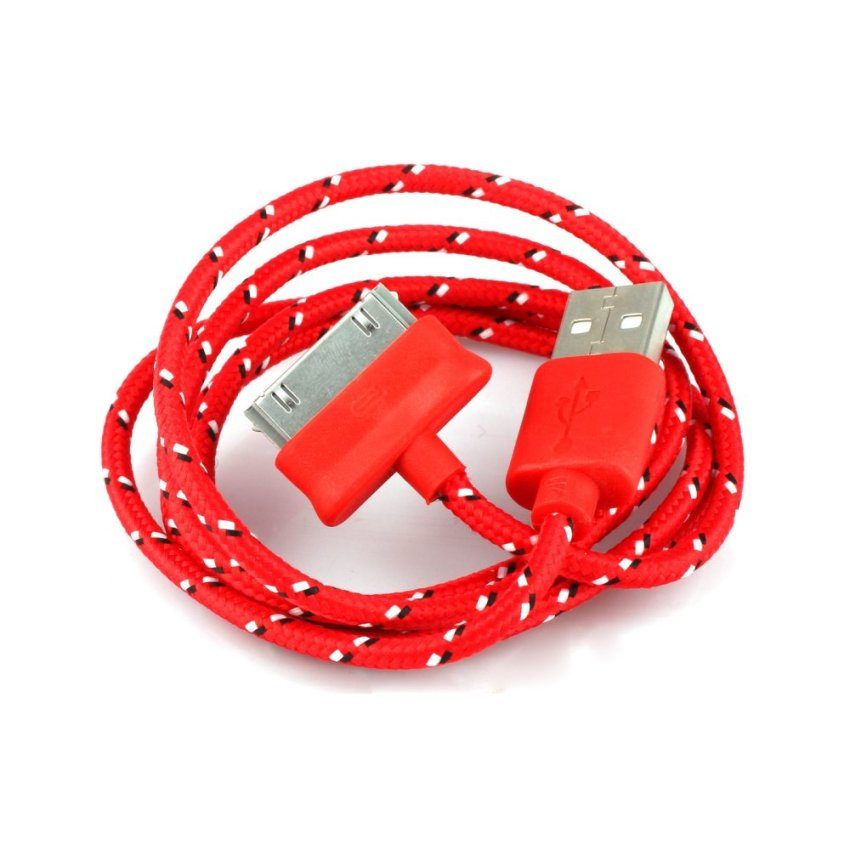 Strong Braided Usb Data Sync Charger Cable Red