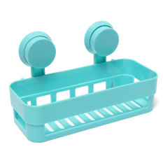 Strong Rack Sucker Holder Storage Shelf Basket Hanger Organizer Bathroom Toilet Blue (Intl)