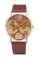 Style Maps GENEVA Super Popular Beautiful PU Leather Quartz Wrist Watch (Brown)