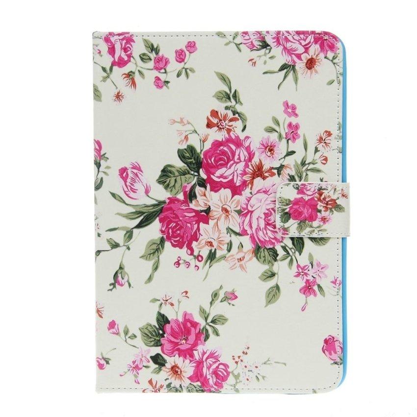 Stylish Ultra Slim Peony Pattern Protective Case for iPad Mini 1/2 Pink/Multicolored