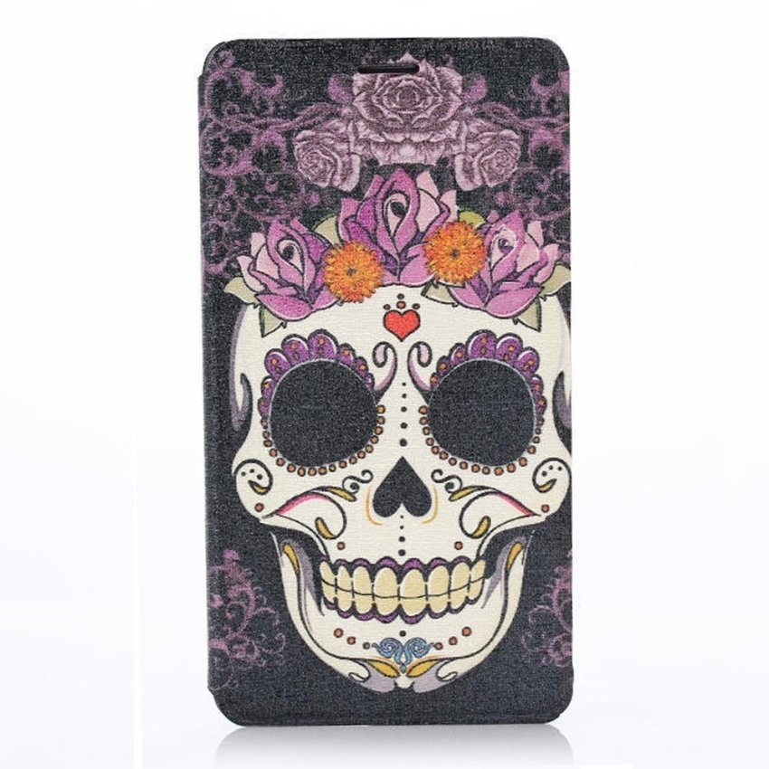 Sugar Skull Roses Trendy Protective Cover Case for Samsung Note 4
