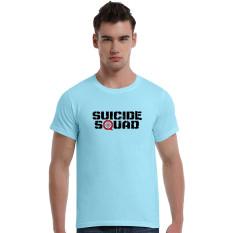 Suicide Squad Aim At Cotton Soft Men Short T-Shirt (Powder Blue) - Intl