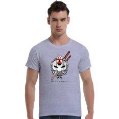 Suicide Squad Katana Cherry Blossoms Cotton Soft Men Short T-Shirt (Grey) - Intl