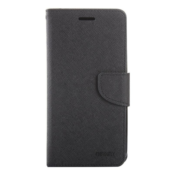SUNSKY Color Matching Cross Texture Horizontal Flip Leather Cover for Asus Zenfone Selfie / ZD551KL(Black) (Intl)
