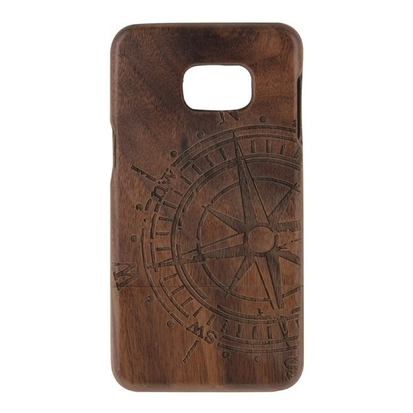 SUNSKY Compass Pattern Separable Wooden Back Case for Samsung Galaxy S6 edge+ / G928 (Brown) (Intl)