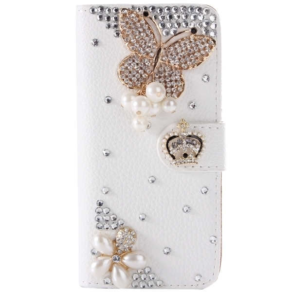 SUNSKY Diamond Encrusted Pattern Horizontal Flip Leather Cover for Samsung Galaxy A5 (White) (Intl)