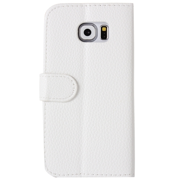 SUNSKY Diamond Encrusted Pattern Horizontal Flip Leather Cover for Samsung Galaxy S6 Edge / G925 (White) (Intl)